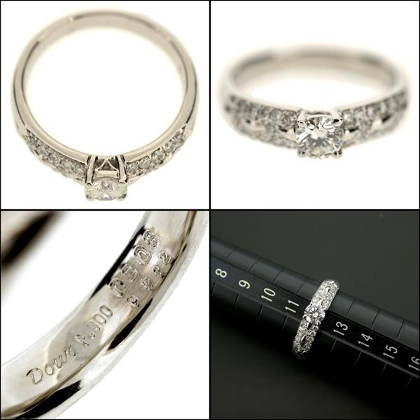 【BSJJ】Pt900 プラチナ ダイヤモンド 0.308ct F/SI-1/GD/中央宝石研究所 リング 約12号 本物_画像3