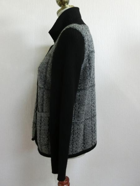 kyn27 DUSOL/グンゼ 切替デザインジャケット 9 ヤフオク年末_画像3
