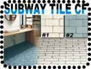 ■オレ部屋■家庭用クッションフロア■CF■サブウェイタイル馬目地タイル調CF/馬張り/うま貼り/馬踏み目地/subway tile/diy/ヴィンテージ