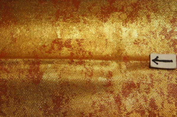 超特選山口伊太郎手織り本金ムラ箔地老松模様盛装用袋帯O9416_逸品『紫紘』本金ムラ箔地老松模様袋帯