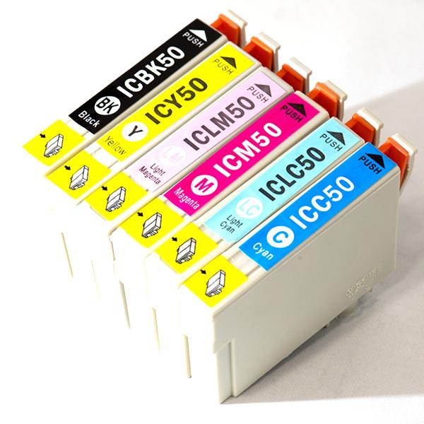 送料無料EPSON IC6CL50 ICBK50 ICY50 ICC50 ICM50 ICLC50 ICLM50互換インクバラ売りEP-301 EP-302 EP-4004 EP-702A EP-703A EP-704A EP901F