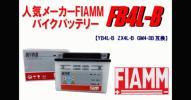 安心保証付 FIAMMバイク用 FB4L-B ( YB4L-B/ GM4-3B/ FB4L-B 互換) KMX125 ミント SX125R スカッシュ KR-1