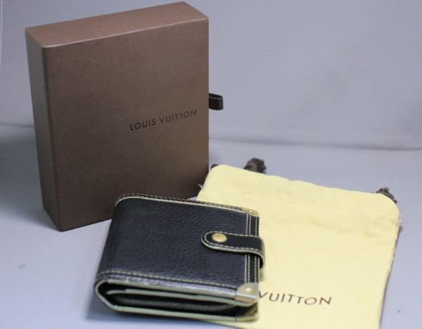 【質流れフタバヤ】LOUIS VUITTON ルイヴィトン スハリライン コンパクトジップ(財布) 箱付き 即決可_画像10