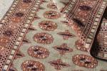 涼しげペパーミントグリーン 手織り絨毯 パキスタン産 155? アンティーク家具 ヴィンテージ マジックカーペット インテリア ラグCSRM6867