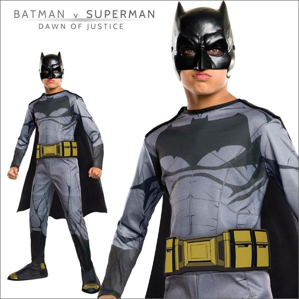 送料無料★バットマンvsスーパーマン  子ども用バットマン 620565L■ハロウィン衣装 コスプレ コスチューム 仮装 映画キャラクター グッズの画像