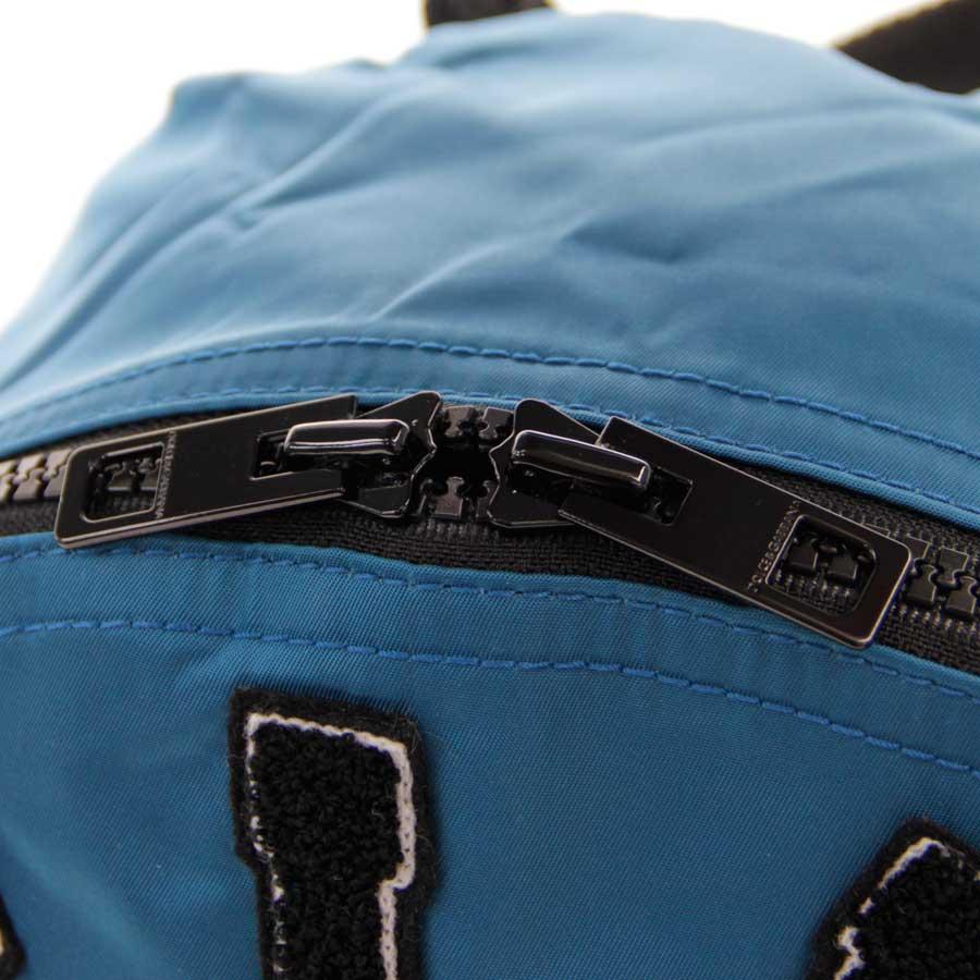 【新品】DOLCE&GABBANA ドルチェ&ガッバーナ リュック SICILIA ロゴアップリケ ナイロン ブルー v40974_商品画像10