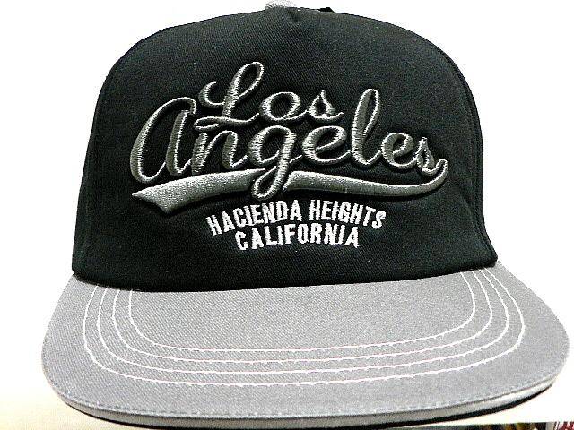 HP つばステッチ英字刺繍&アメリカ国旗 ブラック CAP 帽子 T_画像6