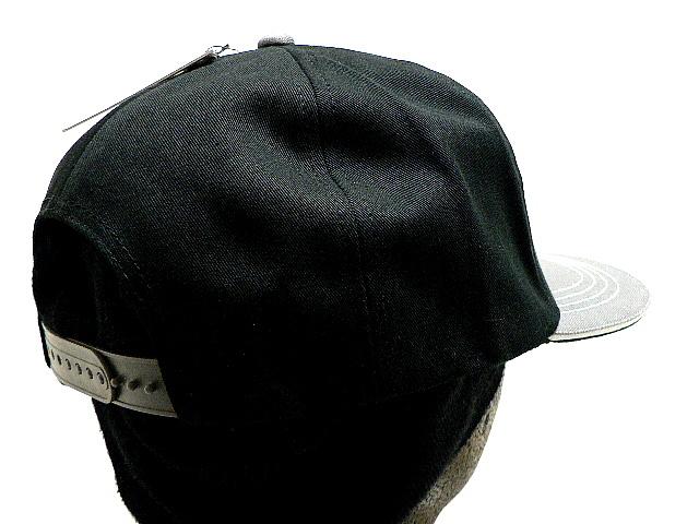 HP つばステッチ英字刺繍&アメリカ国旗 ブラック CAP 帽子 T_画像8
