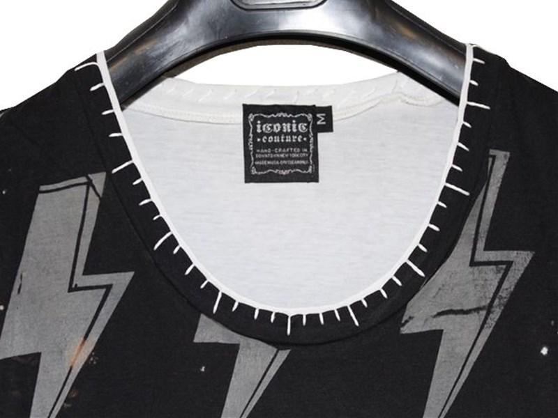 サディスティックアクション SADISTIC ACTION アイコニック ICONIC レディース半袖Tシャツ AC/DC Mサイズ 新品_画像2