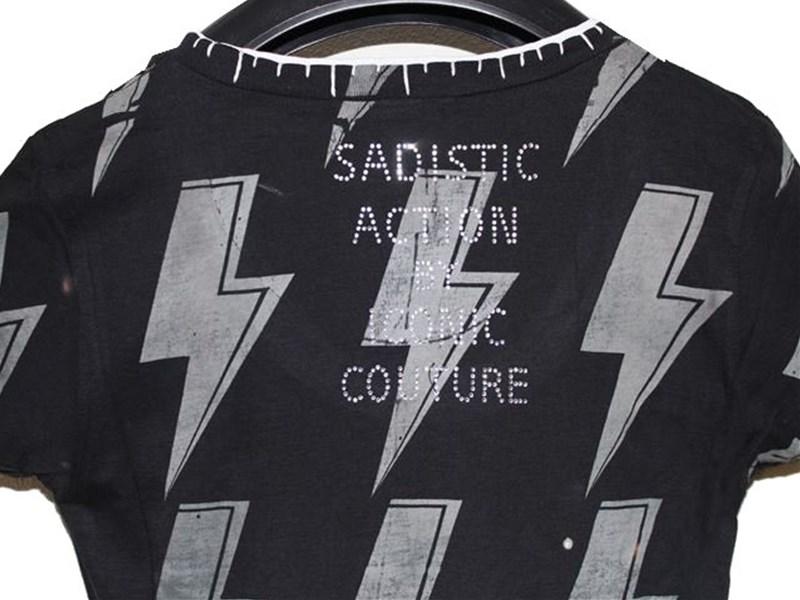 サディスティックアクション SADISTIC ACTION アイコニック ICONIC レディース半袖Tシャツ AC/DC Sサイズ 新品_画像5