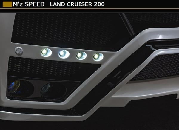 【M's】ランドクルーザー 200 後期 フロント バンパー スポイラー フォグ & LED 付 M'z SPEED エムズスピード トヨタ ランクル TOYOTA_画像4