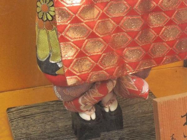 ※同梱不可※日本人形◇寿光作 おいらん 花魁▼ケース 付き 29G_画像3