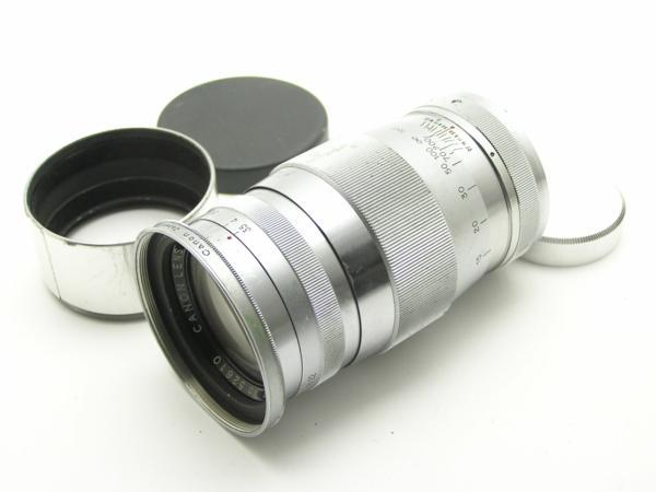 ★ハロ-カメラ★5691 Canon (CANON 135mm F3.5)白鏡筒 Lマウント バルナック 珍品/難有り動作品