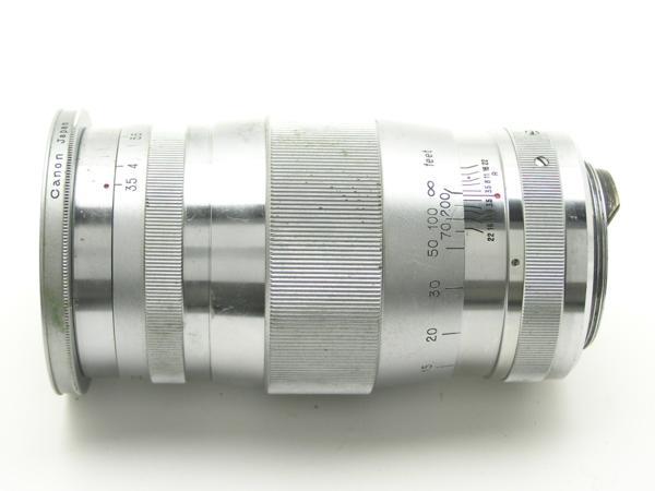 ★ハロ-カメラ★5691 Canon (CANON 135mm F3.5)白鏡筒 Lマウント バルナック 珍品/難有り動作品_画像4