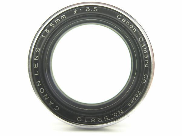 ★ハロ-カメラ★5691 Canon (CANON 135mm F3.5)白鏡筒 Lマウント バルナック 珍品/難有り動作品_画像3