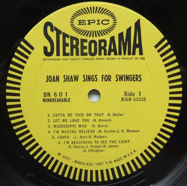 ◆ JOAN SHAW Sings For Swingers / SALENA JONES ◆ Epic ◆_画像3