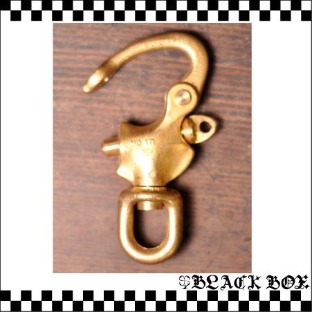 「solid brass ソリッド ブラス 真鍮 無垢 生地 スイベル スナップシャックル レザークラフト カラビナ イギリス UK GB ENGLAND 英国製 17」の画像2