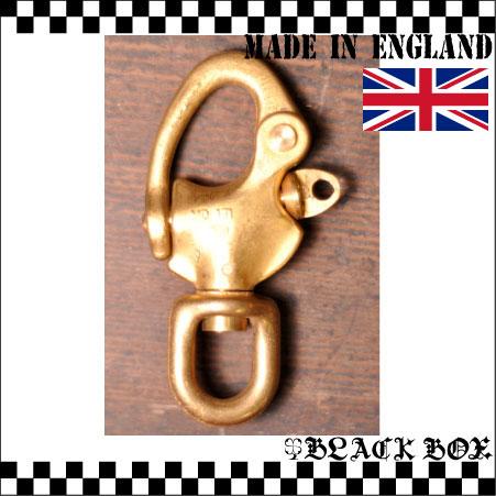 「solid brass ソリッド ブラス 真鍮 無垢 生地 スイベル スナップシャックル レザークラフト カラビナ イギリス UK GB ENGLAND 英国製 17」の画像1