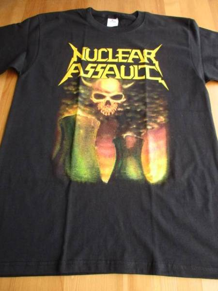 Nuclear assault Tシャツ survive 黒M バックプリントあり