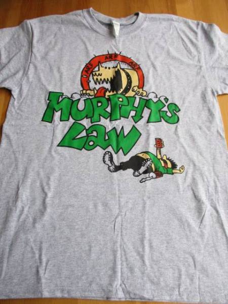 Murphy's law Tシャツ グレーM / agnostic front leeway
