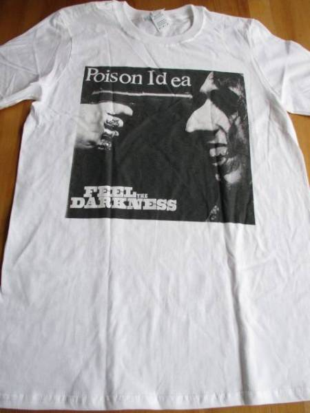 POISON IDEA Tシャツ feel the darkness 白M / black flag