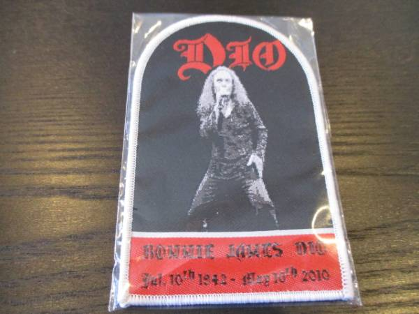 DIO 刺繍パッチ ワッペン tombstone / Ronnie James