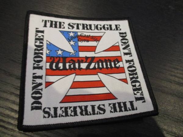 WARZONE 刺繍パッチ ワッペン don't forget the struggle