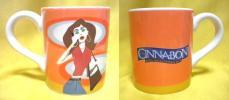 売切 シナボンマグカップ 陶器製 容量:400ml 未使用保管品 1/2