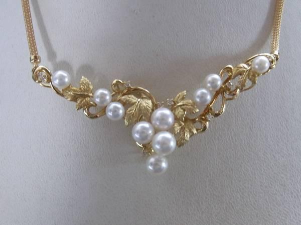新品・k1818,64葡萄モチーフ真珠、ダイヤ¥98,000_画像2