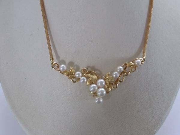 新品・k1818,64葡萄モチーフ真珠、ダイヤ¥98,000_画像1