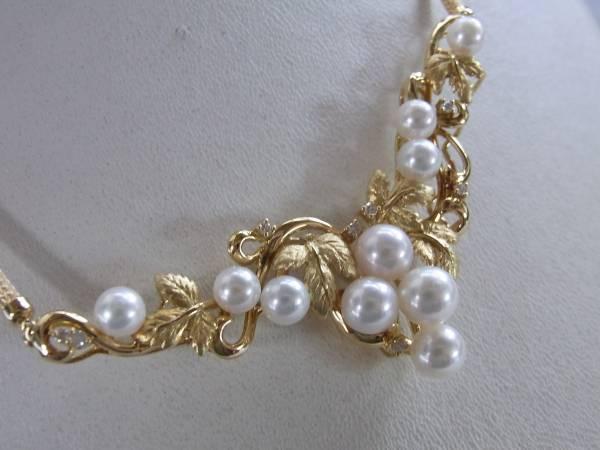 新品・k1818,64葡萄モチーフ真珠、ダイヤ¥98,000_画像3