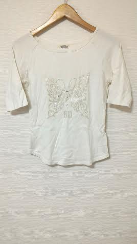 nicole 人気の七分丈カットソー☆今季最高☆人気の白T☆Y6674_画像1