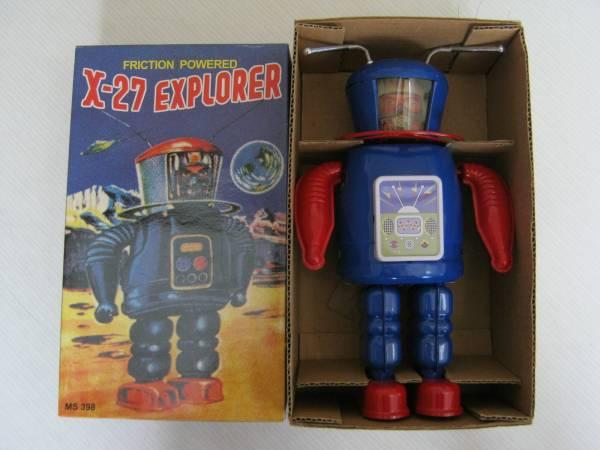 【Xー27 EXPLORER(エクスプローラー)ブリキ ロボット】箱入_画像1