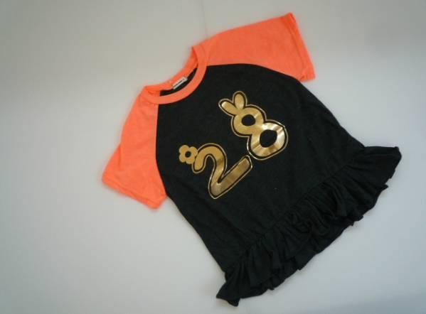 【新品・60%OFF】 ■shushu rabbit■ 韓国子供服 裾フリルTシャツ