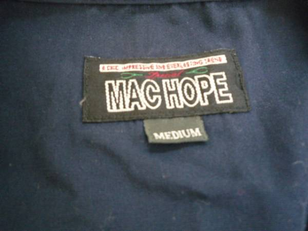 【良品!!】★マックホープ/MAC HOPE★ ベスト ネイビー M 無地_画像3