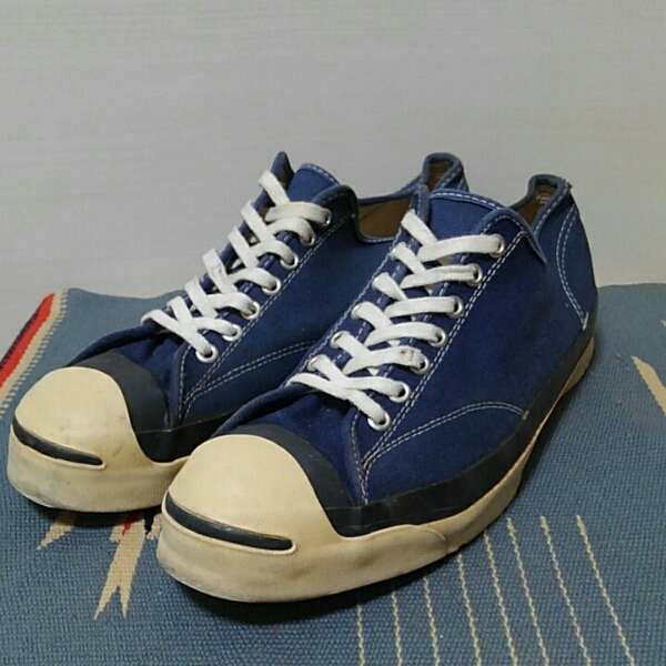 8e9a1669b0d6d2 60~70s Vintage Converse Jackpurcell P.F. sole Navy  Real Yahoo ...