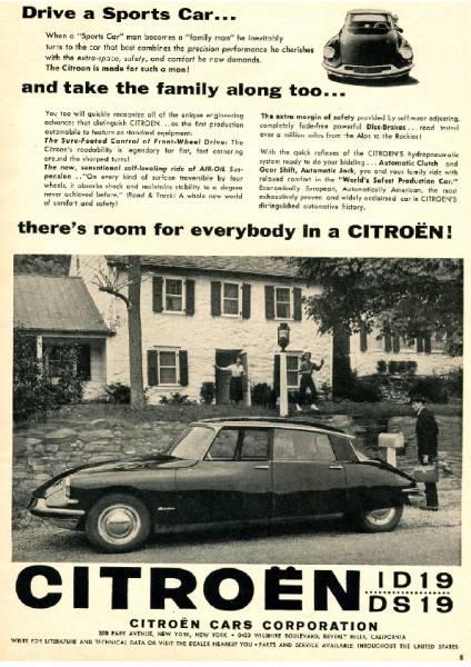 ◆1958年の自動車広告  シトロエン DS Citroën_画像1