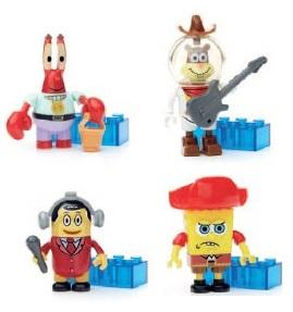 【レゴ互換】メガブロック スポンジボブ コレクターズ第2弾 4種 グッズの画像