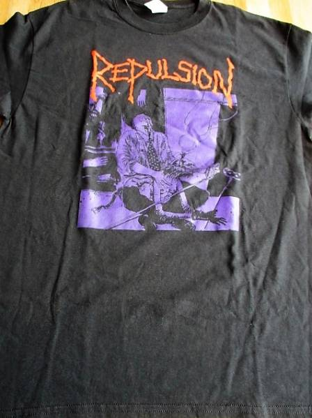 REPULSION Tシャツ excruciation 黒L / napalm death carcass