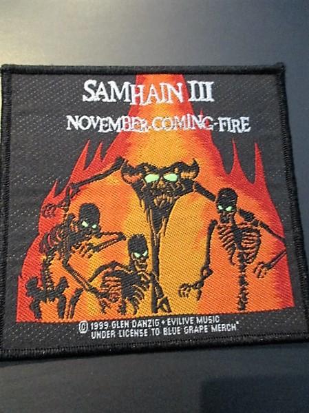 SAMHAIN 刺繍パッチ ワッペン november coming fire サムヘイン / misfits danzig undead