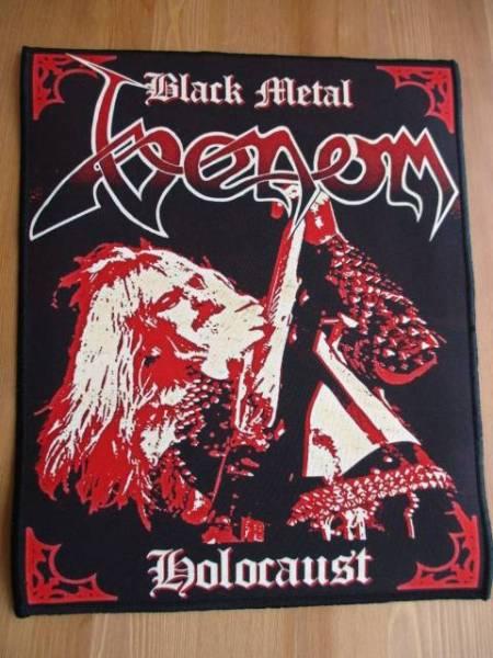 VENOM プリントバックパッチ ワッペン black metal holocaust / slayer bathory