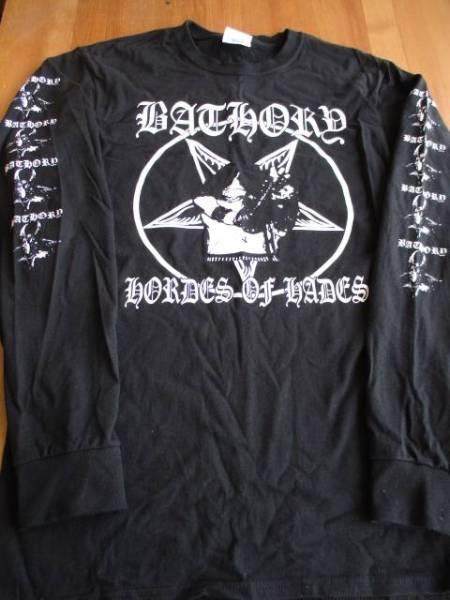 BATHORY 長袖Tシャツ hordes of hades ロンT