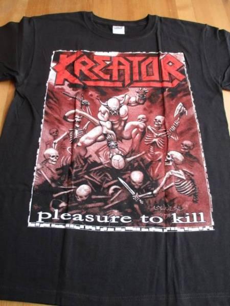 KREATOR Tシャツ pleasure to kill 黒M バックプリントあり