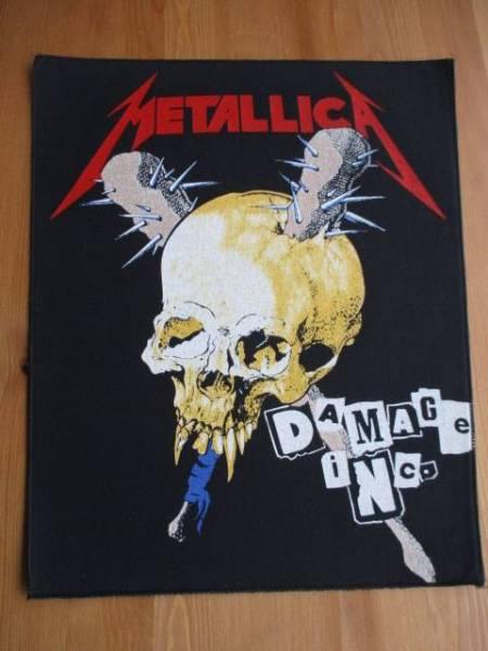 当時物!! Metallica プリントバックパッチ ワッペン damage inc.