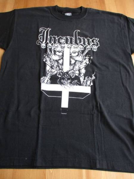 INCUBUS Tシャツ God died on His Knees 黒M バックプリントあり