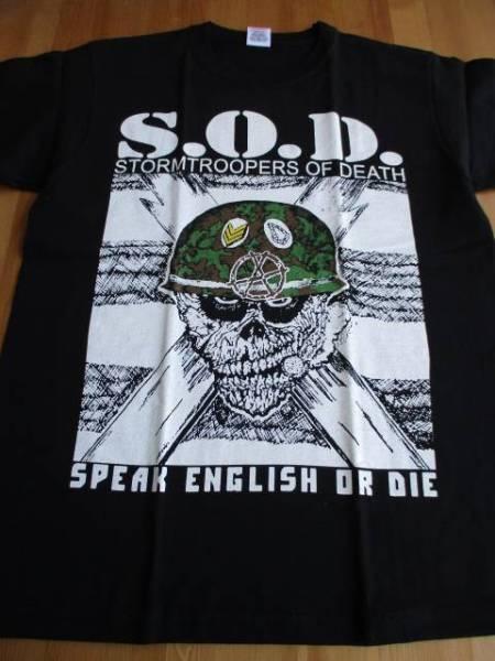 S.O.D. Tシャツ speak english or die 黒M バックプリントあり