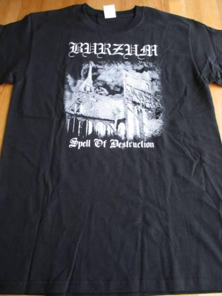 BURZUM Tシャツ spell of destruction 黒M / ブラックメタル mayhem darkthrone