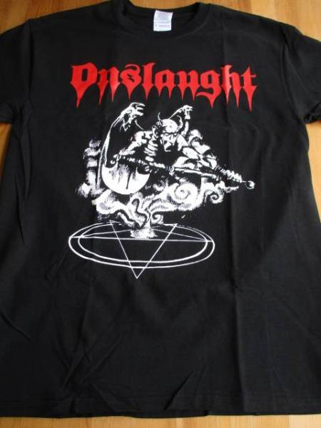 ONSLAUGHT Tシャツ power from hell 黒M / broken bones