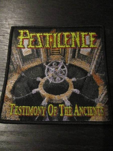 PESTILENCE 刺繍パッチ ワッペン testimony of the ancients