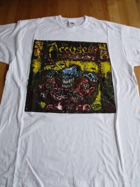 The ACCUSED Tシャツ 白M / d.r.i. attitude adjustment c.o.c